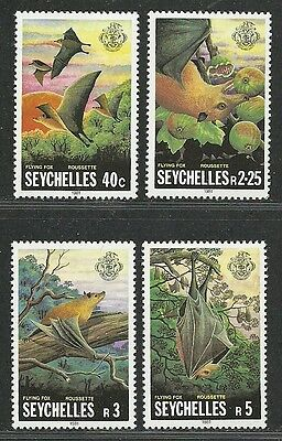 Seychelles 1981 Very Fine MNH Stamps Scott # 479-482 CV 2.15 $  Flying foxes