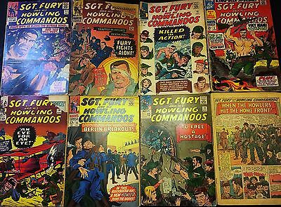 Sgt. Nick Fury & His Howling Commandos Lot #'s 3, 18, 19, 21, 23, 27, 35 1965-67