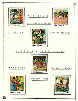 Cook Islands Amazing Collection Very Fine Mint Stamps Hinged on list Paintings