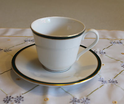 "Royal Doulton 1993 ""Oxford Green"" Cup and Saucer"