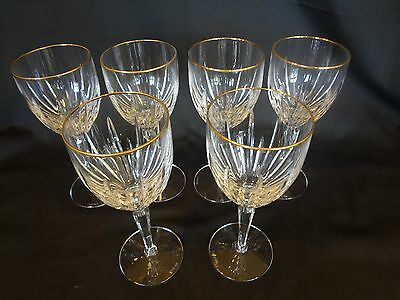 Lenox Crystal - Clarity Gold - Set of 6 Wine Glasses
