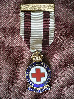 BRITISH RED CROSS 3 YEARS SERVICE MEDAL by Gaunt of London