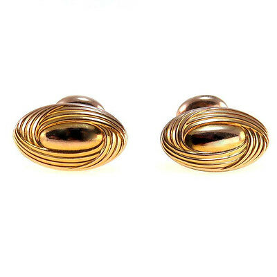 Vintage Bean Type Gold Filled Cufflinks