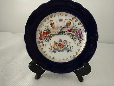 "Edward VII Coronation 6"" Bread Plate, Maker Unknown"