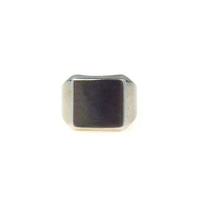 Vintage Sterling Silver Signet Ring Blank Add Your Own Intials Unisex