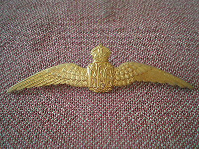 WW1 Royal Flying Corps Pilot Dress Wing Badge by Gaunt of London