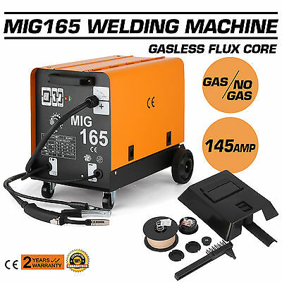 2017 Portable MIG165  Gasless Welder Welding Machine Tool Plug 145Amp