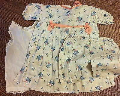 Vintage & Very Pretty Baby Dress, Slip & Pants Set