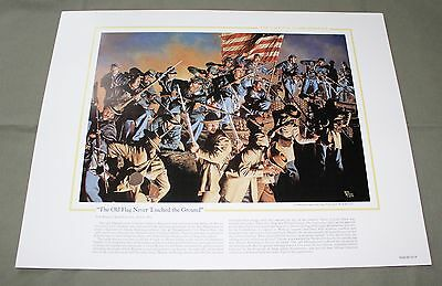 The National Guard Heritage Collectible Print Old Flag Never Touched The Ground