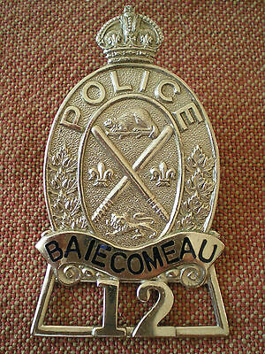 Obsolete Vintage Baie Comeau, Quebec Police Badge by Scully