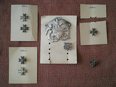 Scarce Woman's WW2 US Navy Med Officer Sterling Silver Cap Badge by Blackinton