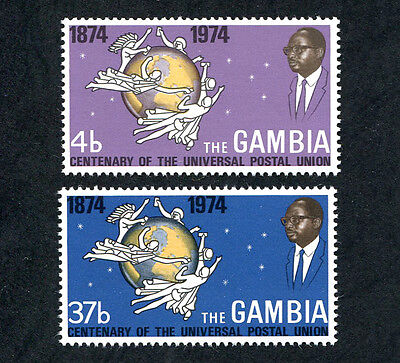 GAMBIA 1974 Centenary of UPU, SET OF 2, MINT Never Hinged