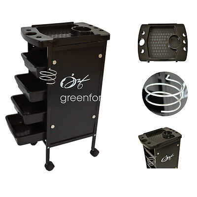 5 Tiers Hairdresser Salon Spa Multifunction Hair Trolley Rolling Storage Cart au