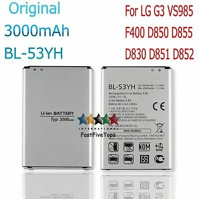100% NEW Original Battery BL-53YH for LG G3 VS985 F400 D850 D855 D830 D851 D852