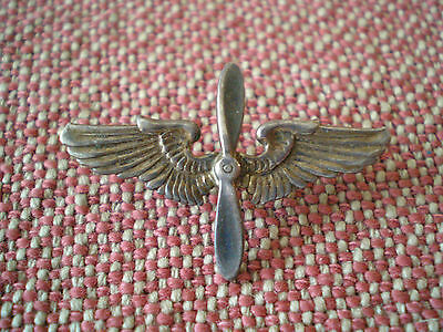 WW2 USAAF (US Army Air Force) Collar Wing-Propeller Badge