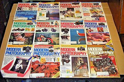 1988 Lot Sale Of 12 MODERN PHOTOGRAPHY Magazines Full Year / Great Condition