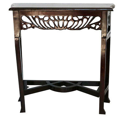 Table console 80cm shelf side table cabinet wood antique style