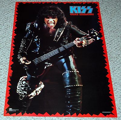 KISS Gene Simmons Animalize Tour In Concert 1985 Winterland Poster Pedulla Bass