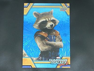 2017 UD Guardians of The Galaxy Vol. 2 BLUE FOIL RB-14 Rocket