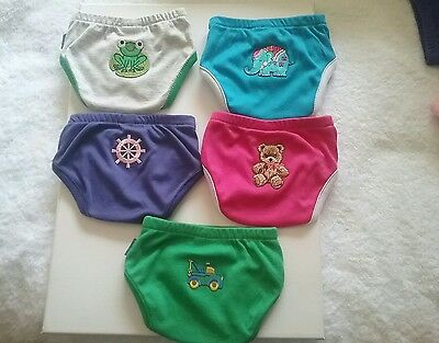 Baby Nappy Covers Size 00000 to Size3 $5 each with applique $3 each plain