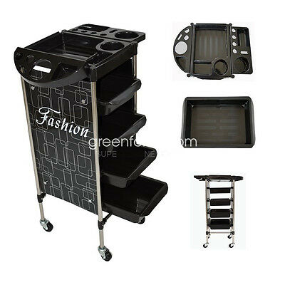 5 Tiers Hairdresser Beauty Spa Hairdresser Coloring Hair Salon Trolley Storage