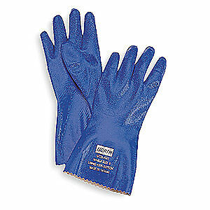 HONEYWELL Chemical Resistant Glove,12 In,Sz 11,PR, NK803/11, Blue