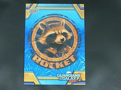 2017 UD Guardians of The Galaxy Vol. 2 BLUE FOIL RB-28 Rocket