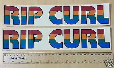 Rip Curl original 4 colour logo Stickers x 2  - 80's / 90's The Search  Surfing