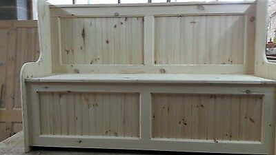 4ft Church pew Monks bench with storage