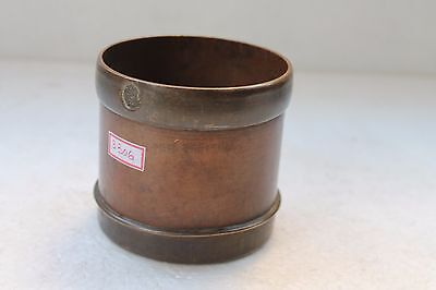 Vintage Handcrafted Brass Copper Grain Measuring Pot 1/2 Seer Collectible NH3306