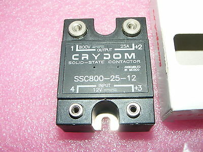 New Crydom Solid State Relay Ssc800-25-13 Hv 800Vdc 25 A, 12 Vdc Spst-No