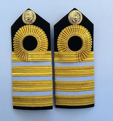 Royal Thai Navy Captain Adminstration/Supply Cops/Finance Corps Shoulder Boards