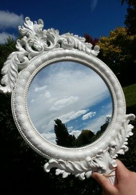White French Provincial Large Hand Mirror
