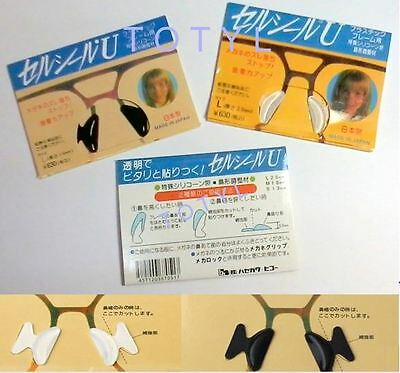 Eyeglass Sunglasses Japan Made Stick On Non Slip Silicone Nose Pad Adhesive New