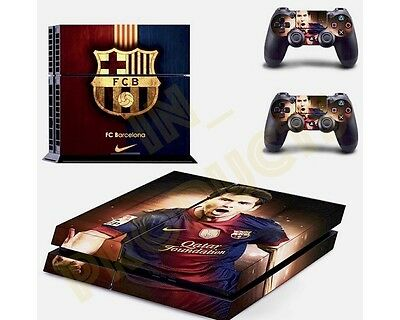 Sony Playstation PS4 Vinyl Skin Folie sticker Aufkleber - Messi Barcelona Design
