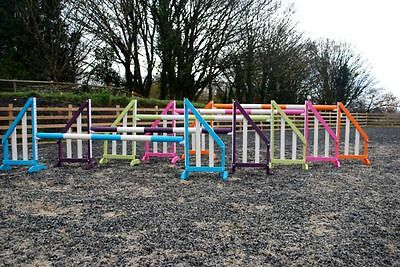 Funky horse show jumps, set of 5 by bristol show jumps. with keyhole tracks