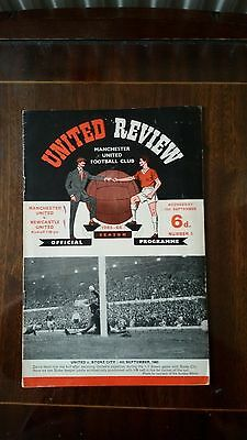 Manchester United V Newcastle United League Division 1 1965