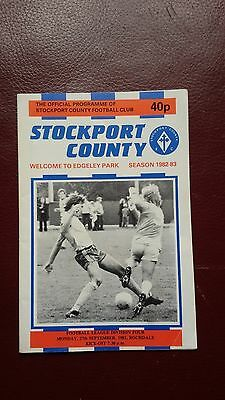 Stockport County V Rochdale League Division 4 1982