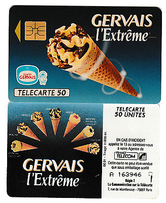 PH/TC >>  France   PP  50U  SO3   ''   Glaces GERVAIS   ''    TBE
