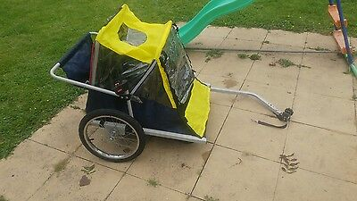 Spokey Joe bike trailer for 2 children
