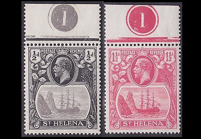 ST HELENA 1/2d, 1 1/2d SUPERB MNH WITH CONTROL NUMBER. PRISTINE. CAT £8.50