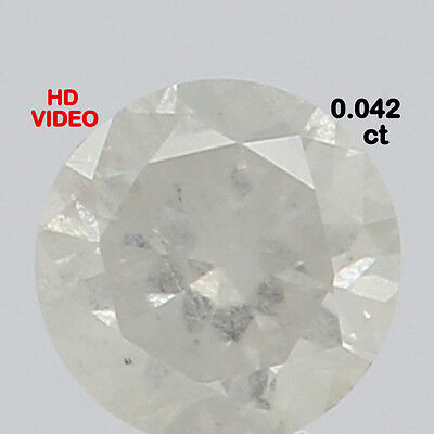 2.20 MM 0.042 Ct Natural Loose Diamond Cut Round Shape G Color N2290