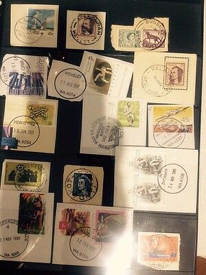 Australian Stamps All With Nice W.A Post Marks Seen Scan