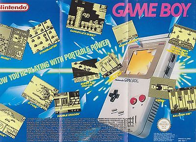 Game Boy Poster (1991 Original GameBoy / Poster Insert From Box)