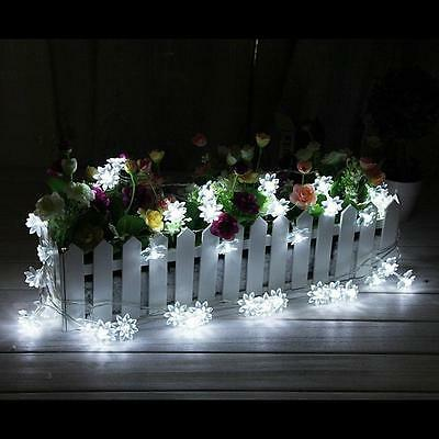 20 LED solar powered Lotus Flower outdoor string lights solar lantern lamps for