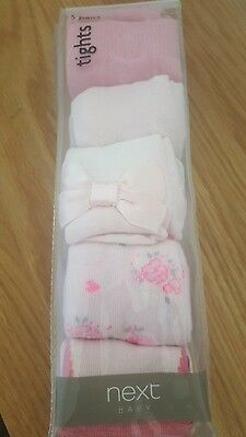 Next baby girl tights 3-6 months