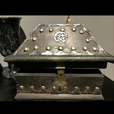 Salem Wooden Pentagram box - wicca witchcraft pagan