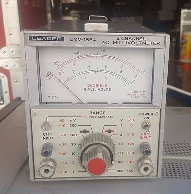 Leader LMV-185A 2 Channel AC Millivoltmeter * Free Shipping *