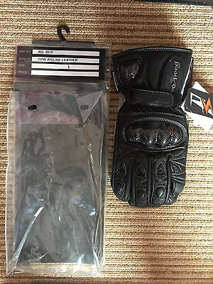 Pro Speed Leather Motorcycle Gloves Large