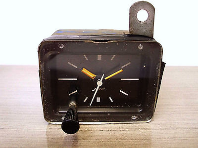Vintage Jeco 70's Analog Car Clock, 12V, Minute, Hour, Second - Working